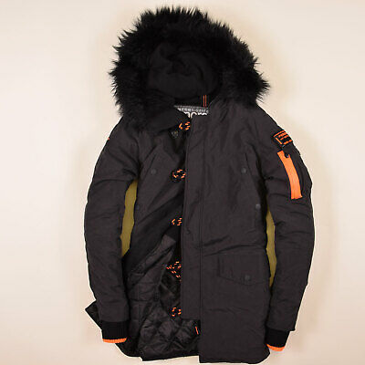 new concept b2b49 99c88 SUPERDRY HERREN PARKA Jacke Mantel Gr.XS Microfibre Flight Edition SD-3,  65596