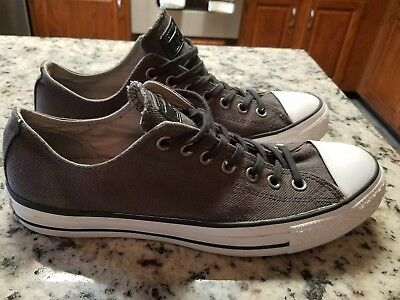bff679afef17 CONVERSE ALL STAR Chuck Taylor Low Top Canvas Gray Sneakers Tennis Shoes  M9 W11