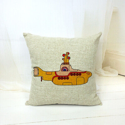 Stunning The Beatles  Yellow Submarine  Cushion Cover 45cm  Great Quality