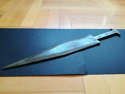 BRONZE AGE SHORT SWORD/DAGGER ANCIENT ILLYRIANS BRONZE WEAPON 1200-900 BC. 40 cm