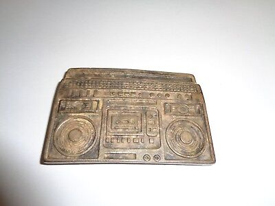 Vintage Boom Box Belt Bucklet 100% Zinc Made in Italy