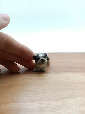Baby Bulldog Dog Ceramic Figurine Miniature Animal Statue - SDG012