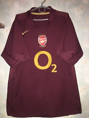 942e6915135 RARE Arsenal London England 2005 2006 Home HIGHBURY shirt jersey nike Henry  era