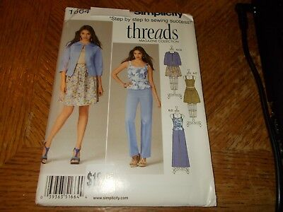Simplicity Pattern 2288 Ms//Womens THREADS MAG Jackets~Pants~Skirt~Knit Cardigan