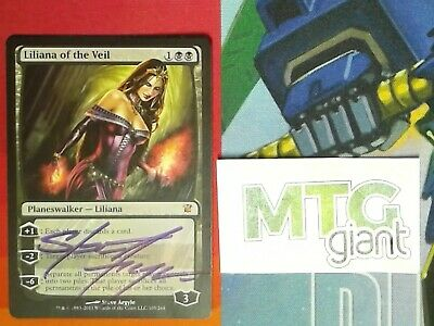 1X Liliana of the Veil- Innistrad - * English, Signed by Argyle* MTG CARD