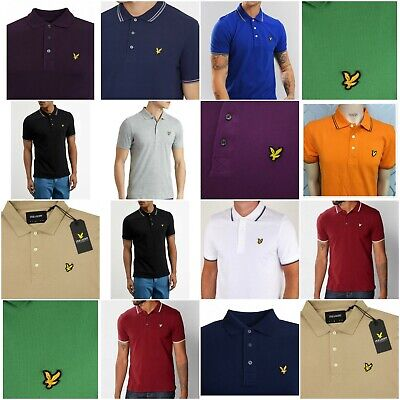 Lyle & Scott Polo Shirts Collared Short Sleeve Smart Tees Casual Y Neck Tops