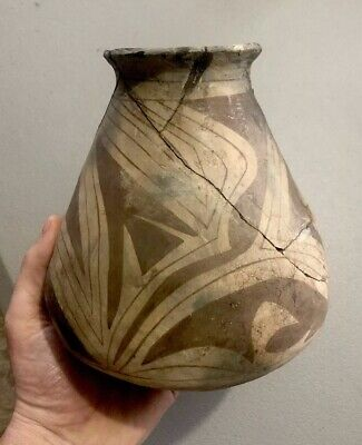 "MLC S2829 OLD 7"" Pre Columbian Pot Pottery Painted Design"