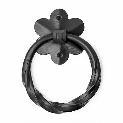 "4.5"" Rustic Ring Pull For Barn Doors, Gates & Furniture Iron Hand Forged"