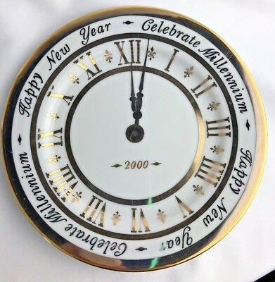 Royal Gallery Gold Buffet 2000 Celebrate Millennium New Year Clock Face Plate