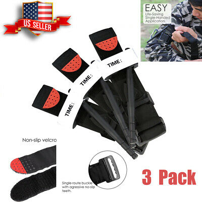 3PACK Tourniquet-Rapid One Hand Application Emergency Outdoor First Aid Kit New