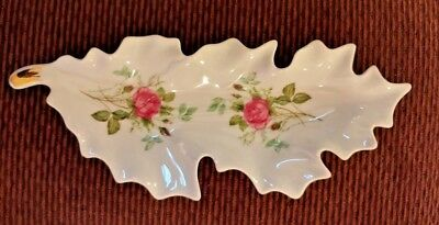 Vintage OLD NUREMBERG BAVARIA GERMANY Leaf Shaped Celery/ Relish/ Candy Dish 50s