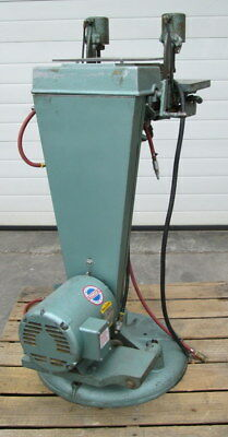 Newton B-100 Dual Spindle Horizontal Boring Machine pneumatic feed and clamp