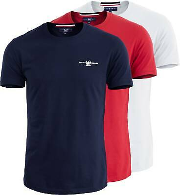 T-shirt Mezza Manica Uomo Harvey Miller Polo Club Maglietta Girocollo 6906IT
