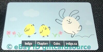 Indigo Chapters Coles Gift Card Happy Easter 2019 Bunny/Chicks No Value New