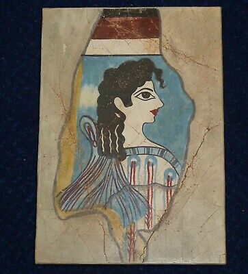 Greek Wall Plaque, Ancient Minoan Goddess, Museum Copy, Greece, Hanging