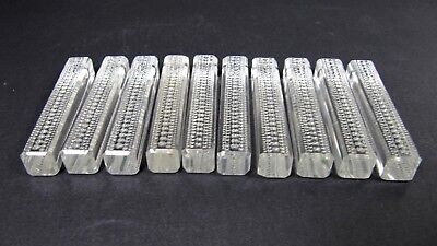 10pc Set Czech Bohemian Knife Rest Holder Art Deco Marked Crystal Baccarat Style