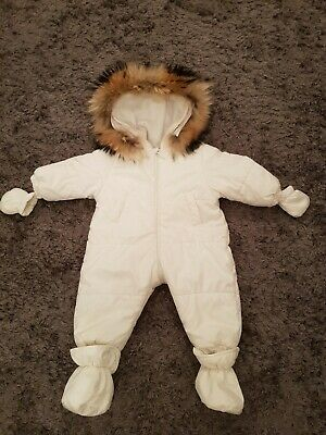 6107ddab6 Bimbalo unisex boys girls coat jacket snowsuit with real fur 12 months