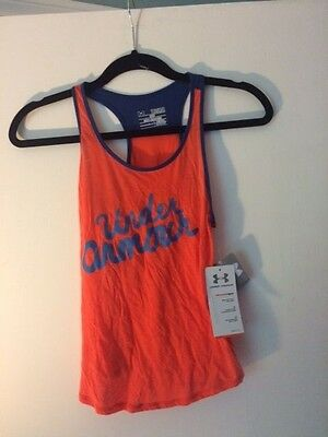 Under Armour Girls Orange & Blue Tank-Top Size YSM Brand New W/Tags