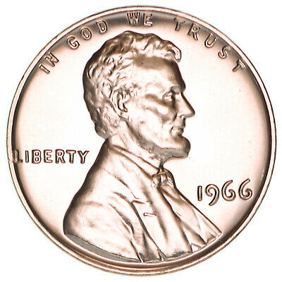 1966 SMS Lincoln Memorial Cent Gem Special Mint Set Penny