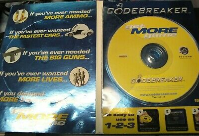 PS2 CODEBREAKER VERSION 10 0 For The Sony Playstation 2 In Its Box - Free  Ship!