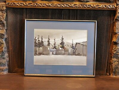 Lewis Scott Croft - Watercolor Ocean Cliff Pines Landscape Painting  Nova Scotia
