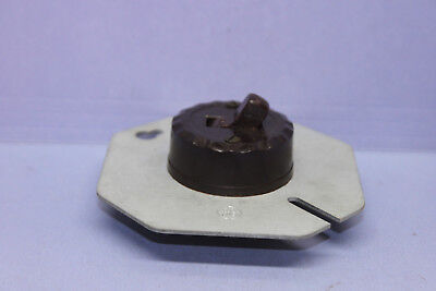 "Vintage GE Round Light/Motor Toggle Switch for 4"" Junction Box - Single-Pole"