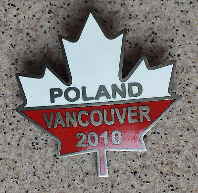 Poland Olympic badge - Vancouver 2010