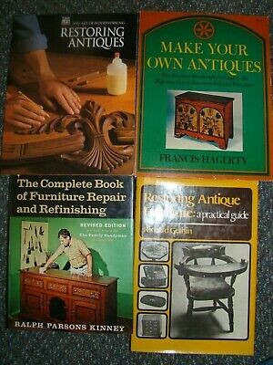 Lot 4 Books On  Restoring & Making Your Own Antique Furniture Repair Refinishing