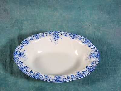Shelley Dainty Blue Vegetable Serving Bowl White Blue Bone China England
