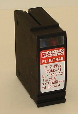 New PHOENIX CONTACT PT 2-PE/S-120AC-ST Plugtrab Surge Protection Element