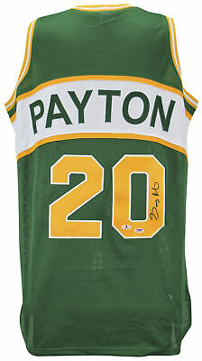 bfba4b345 Sonics Gary Payton Authentic Signed Green Jersey Signed On #0 PSA/DNA Or BAS
