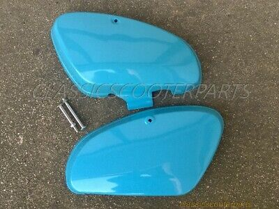 Honda C70 Passport 1980-81 plastic BLUE LEFT RIGHT tool battery covers PLS READ!