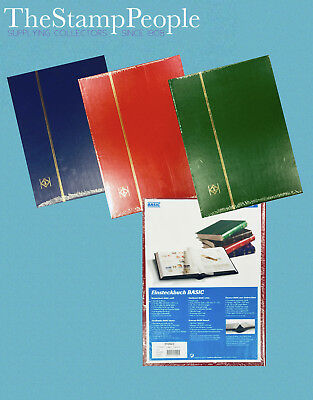 Lighthouse Stockbook / 16, Black Pages /  Stamp Album Stock book
