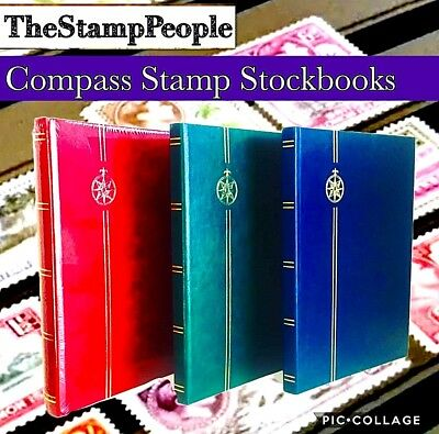 ⭐️ 32 Pages / Stamp Stockbook - Select Any Colour! ⭐️ A4 Size Stock book Albums