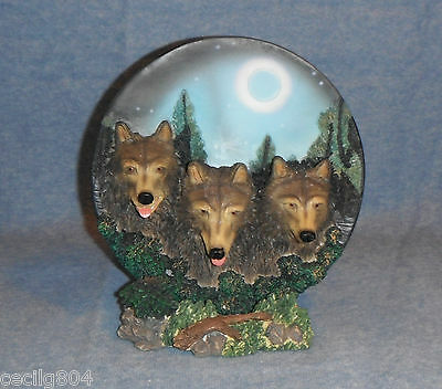 Three Wolves On A Full Moon  Night  Collector Plate