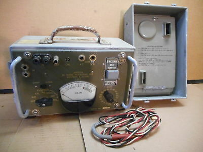 Western Electric 3A Noise Measuring Set w/ Leads & Ear Piece, Telephone, Vintage