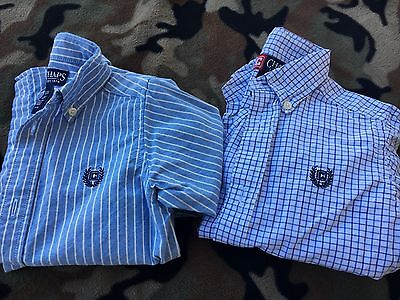 Set Of 2 Ralph Lauren Chaps 3T Long Sleeve Polo Shirts!  NICE!!