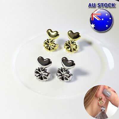 Tighening Eaarring Back Support With Earring Lifts Hypoallergenic Ear Clip Up