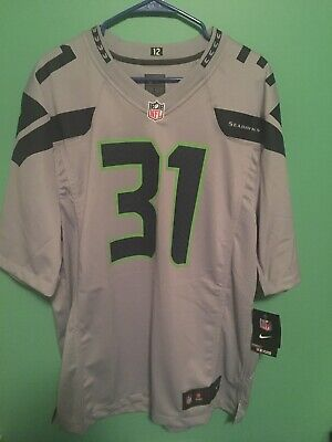 74cd85138 NIKE KAM CHANCELLOR Seattle Seahawks Grey Vapor Untouchable Jersey ...