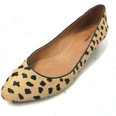 11a8431c28b MADEWELL LEOPARD ANIMAL Print Calf Hyde Loafer Shoe Women Size 8M ...