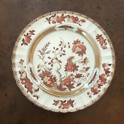 SPODE England Indian Tree Rust Mint Condition New Dinner Plate 10 3/8 inch