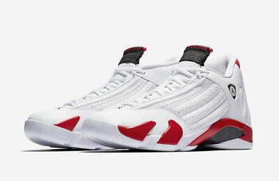 huge discount 8b8a7 6931e 2019 Air Jordan 14 Retro Candy Cane White Black Varisty Red Hamilton 487471- 100