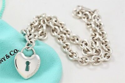 1195d9215 RARE Tiffany & Co. Sterling Silver Large Heart Keyhole 16