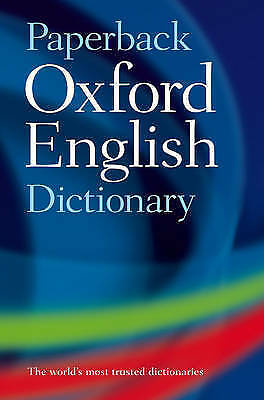 """""""VERY GOOD"""" Paperback Oxford English Dictionary, Oxford Dictionaries, Book"""