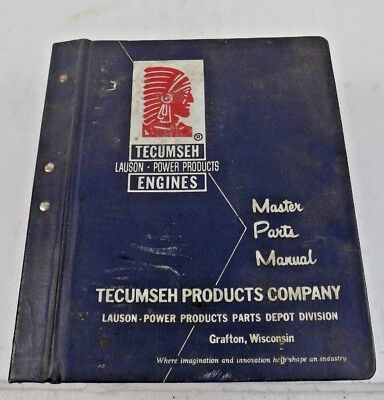 TECUMSEH - LAUSON - POWER PRODUCTS ENGINES - MASTER PARTS MANUAL - 60's