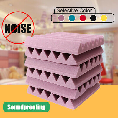 12x12x2'' Acoustic Studio Foam Soundproofing Absorption Treatment Wedge Tiles