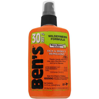 Ben's 30% DEET Fragrance-Free Tick and Insect Repellent Spray - 3.4 oz.