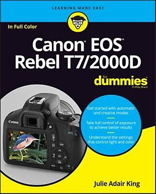 Canon EOS Rebel T7/2000d for Dummies by King, Julie Adair -Paperback