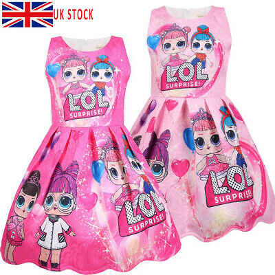 LOL Surprise Girls Doll Game Dress Pleated Holiday Party Princess Fancy Dresses