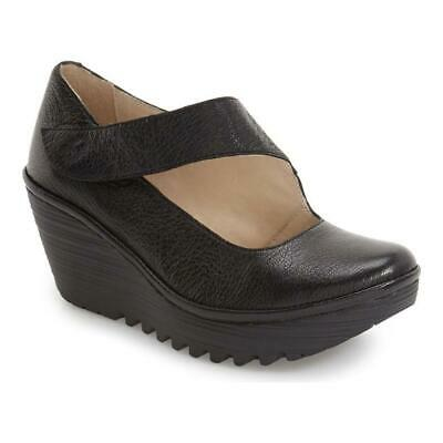 Black Black 075 FLY London Scarpe zeppa donna 8 UK 41 EU